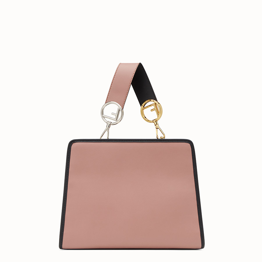 FENDI RUNAWAY SMALL - Pink leather bag - view 3 detail