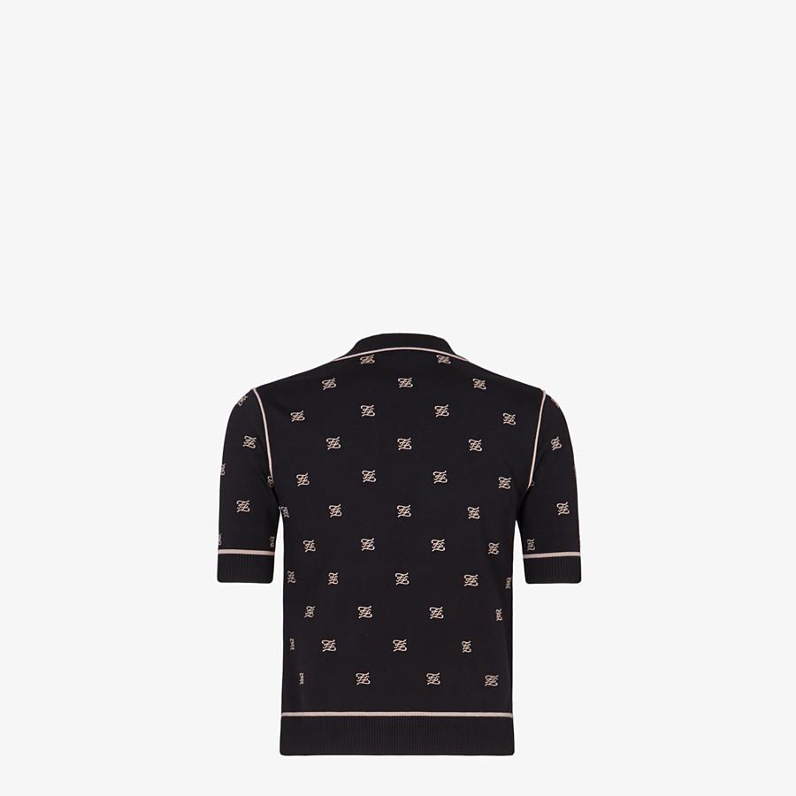 FENDI SWEATER - Black viscose sweater - view 2 detail