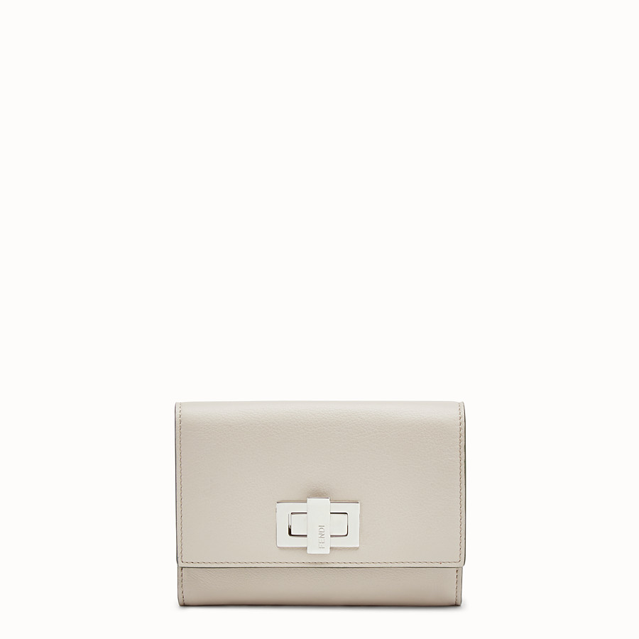 FENDI CONTINENTAL MEDIUM - Medium continental wallet in grey leather - view 1 detail