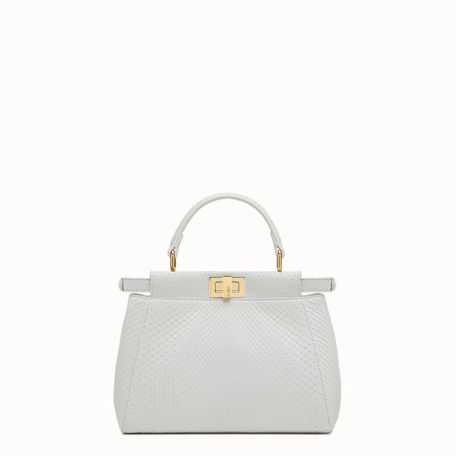 FENDI PEEKABOO MINI - White python handbag - view 3 detail