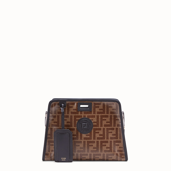 FENDI SMALL PEEKABOO DEFENDER - Peekaboo cover in brown fabric - view 1 small thumbnail