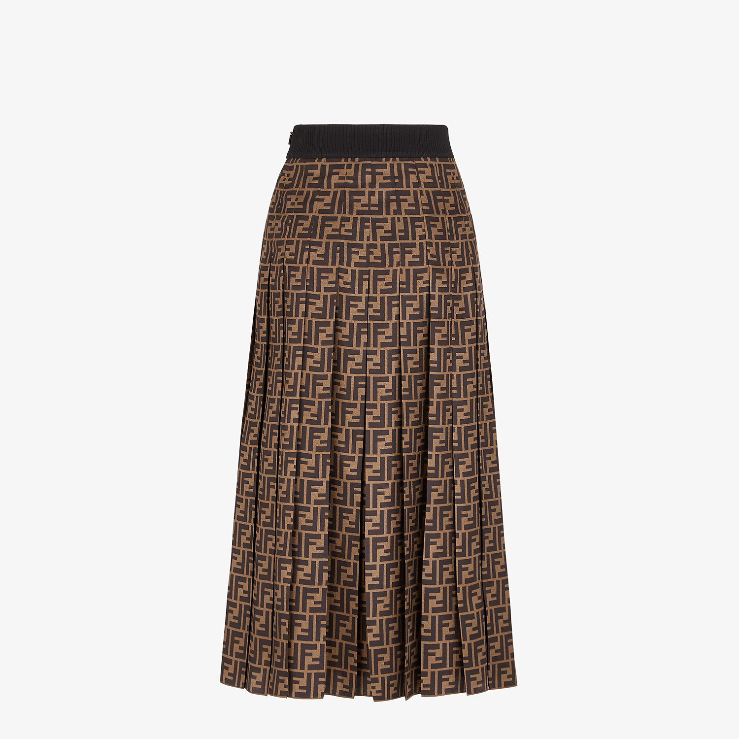 FENDI SKIRT - FF motif twill skirt - view 2 detail
