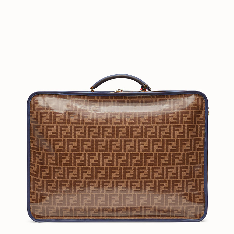 FENDI LUGGAGE - Brown fabric suitcase - view 3 detail