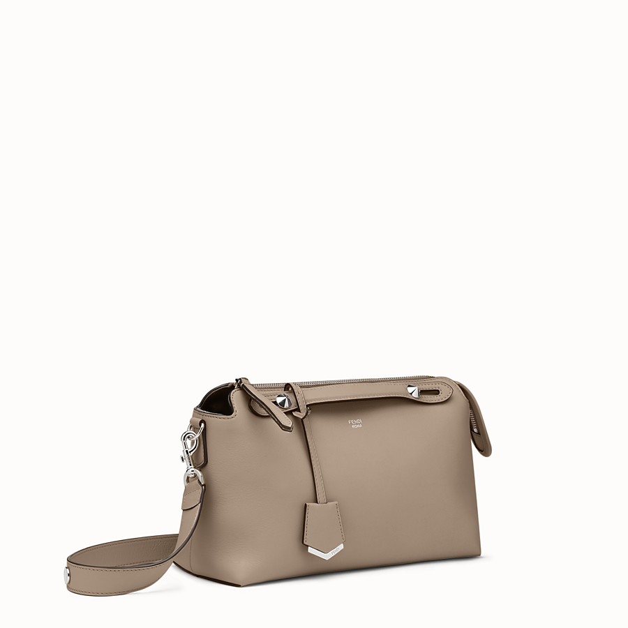 FENDI BY THE WAY REGULAR - Small Boston bag in beige leather - view 2 detail