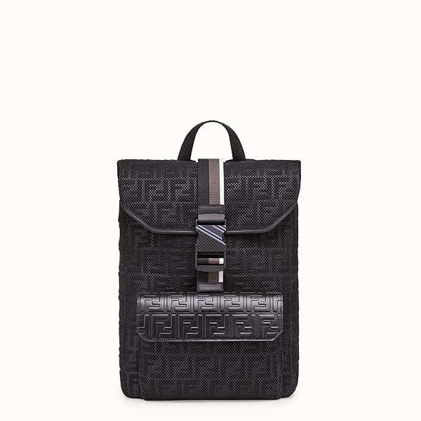 FENDI BACKPACK - Black mesh backpack - view 1 small thumbnail