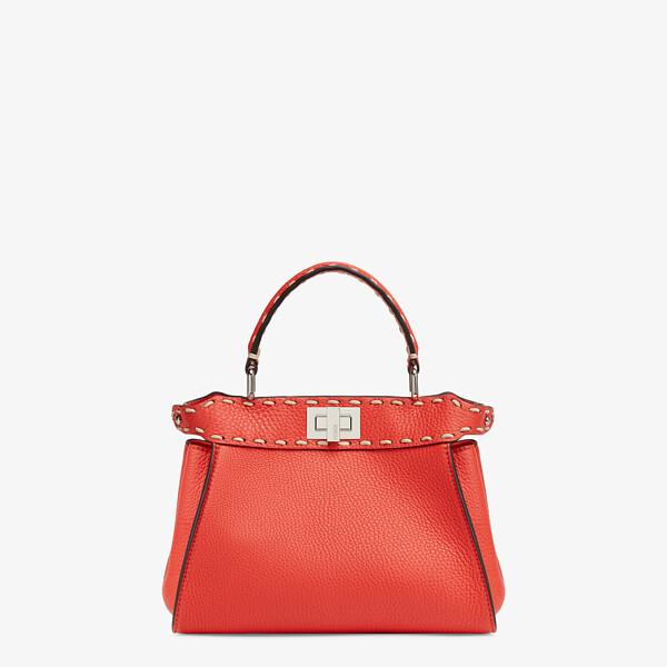 Red full grain leather bag
