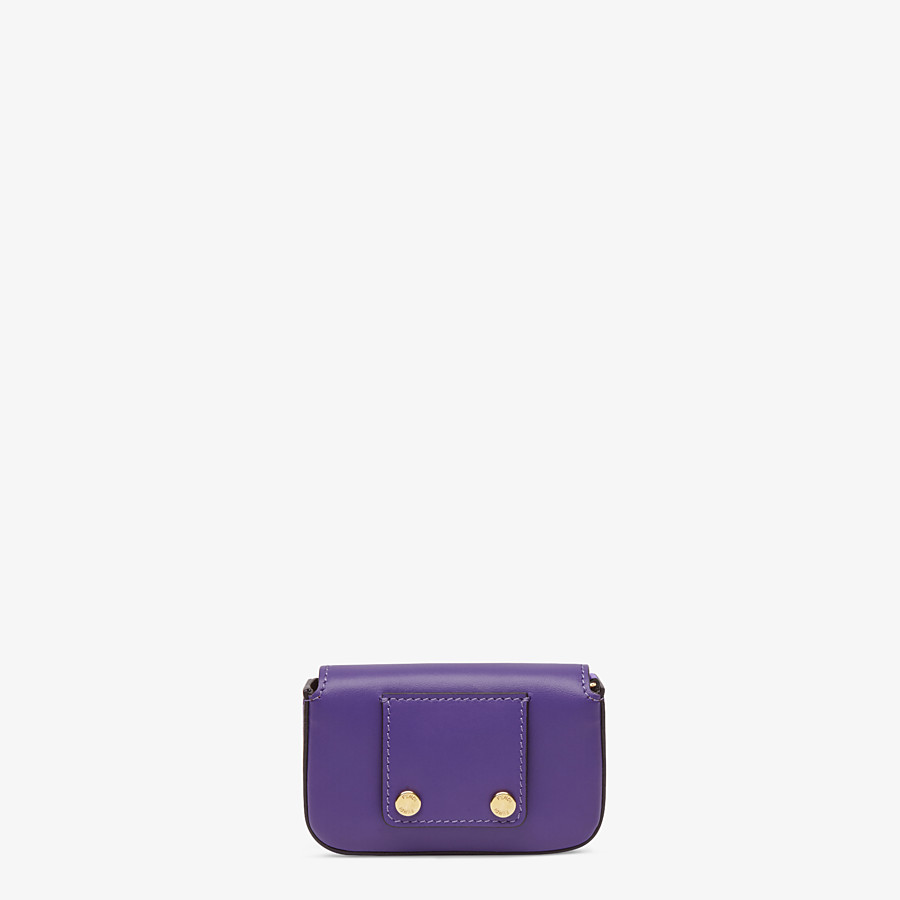 FENDI NANO BAGUETTE CHARM - Purple leather charm - view 4 detail