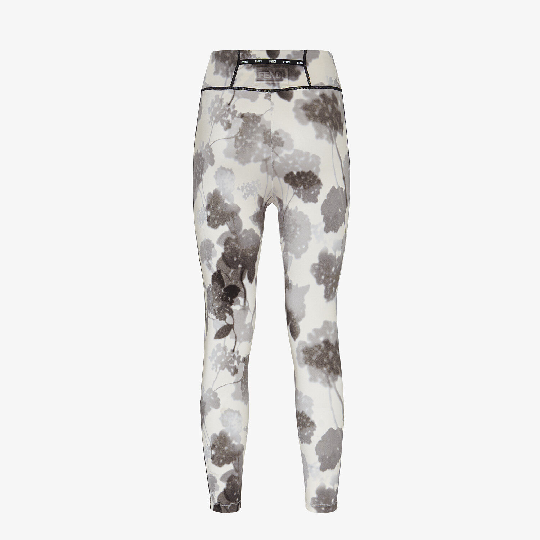 FENDI LEGGINGS - Gray tech fabric leggings - view 2 detail