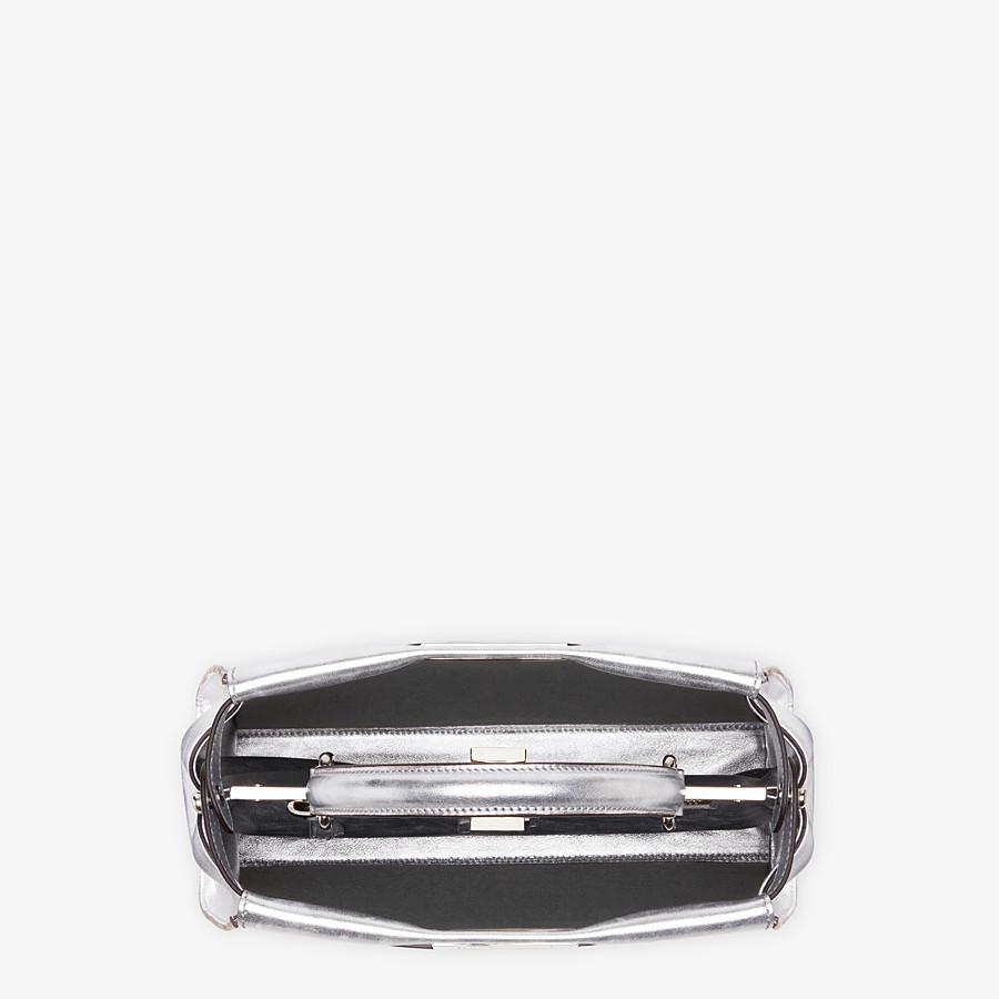 FENDI PEEKABOO ICONIC MEDIUM - Silver leather bag - view 4 detail