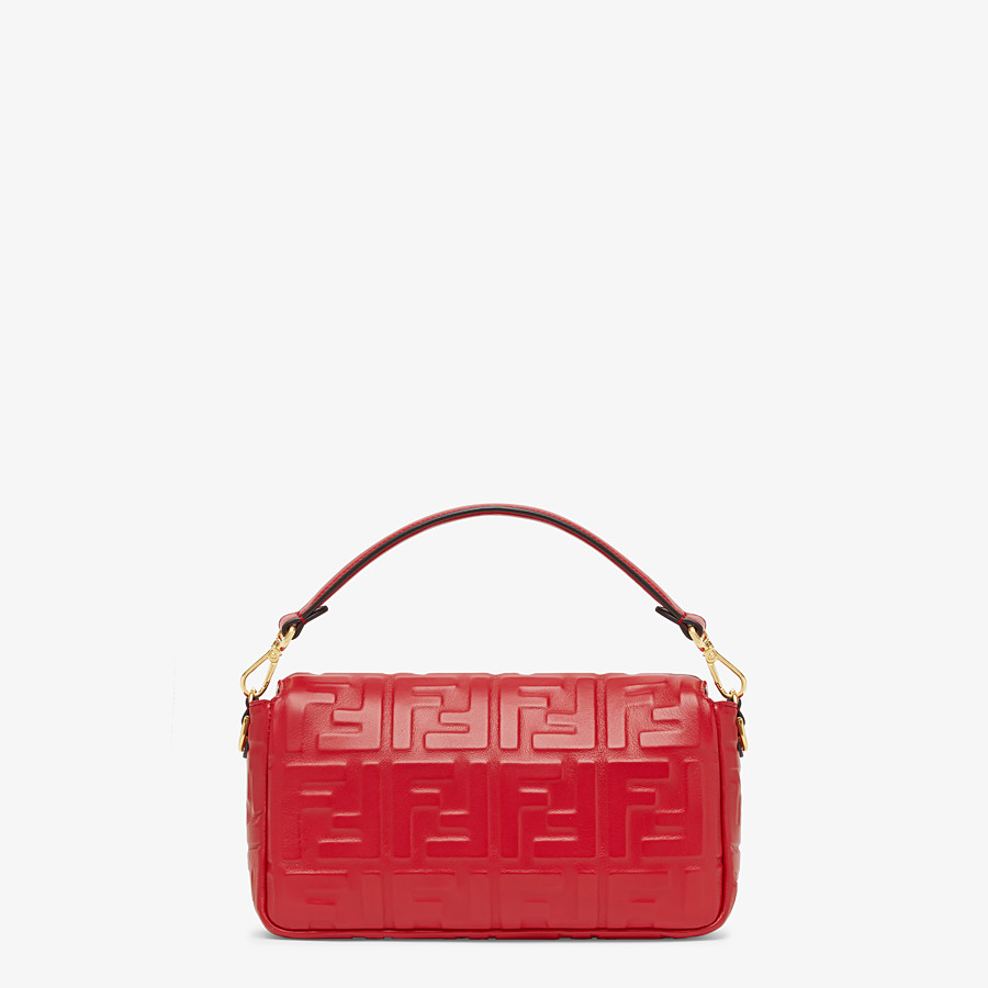 FENDI BAGUETTE - Red leather bag - view 4 detail