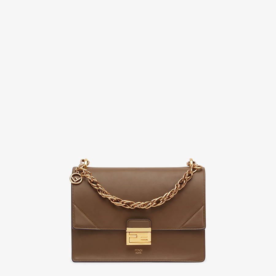 FENDI KAN U - Brown leather bag - view 1 detail
