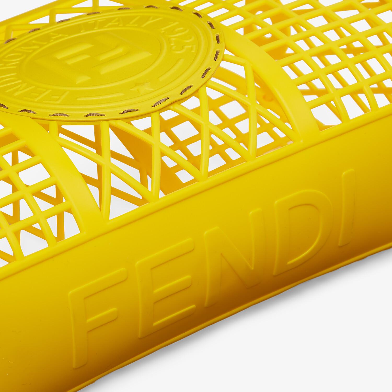 FENDI FENDI BASKET SMALL - Yellow recycled plastic mini-bag - view 6 detail