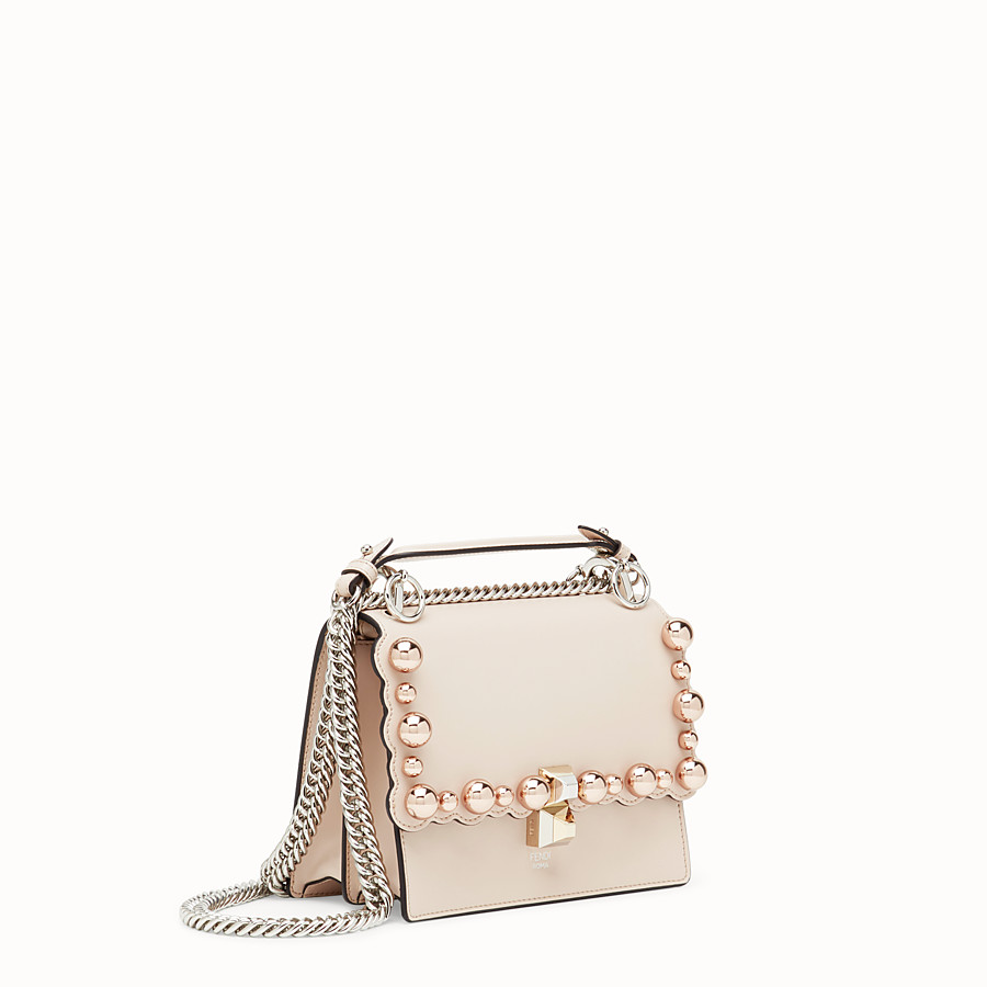 FENDI KAN I SMALL - Pink leather minibag - view 2 detail