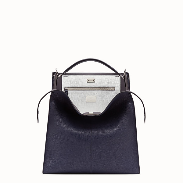 FENDI PEEKABOO X-LITE FIT - Sac en cuir romain bleu - view 1 small thumbnail