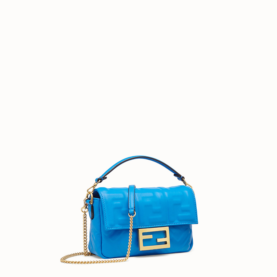 FENDI BAGUETTE - Blue leather mini-bag - view 2 detail