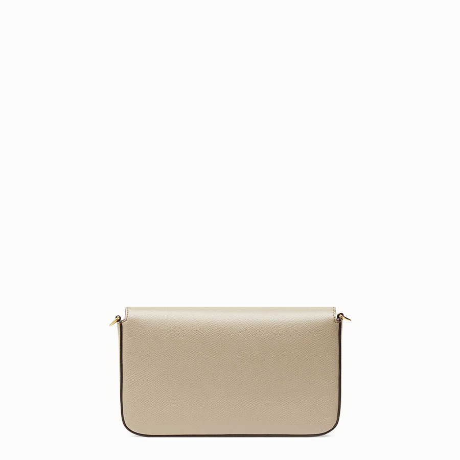 FENDI WALLET ON CHAIN WITH POUCHES - Beige leather minibag - view 5 detail