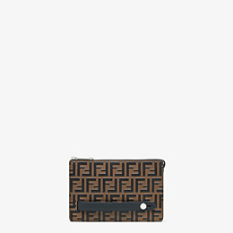 FENDI CLUTCH - Pochette aus Leder in Braun - view 1 thumbnail