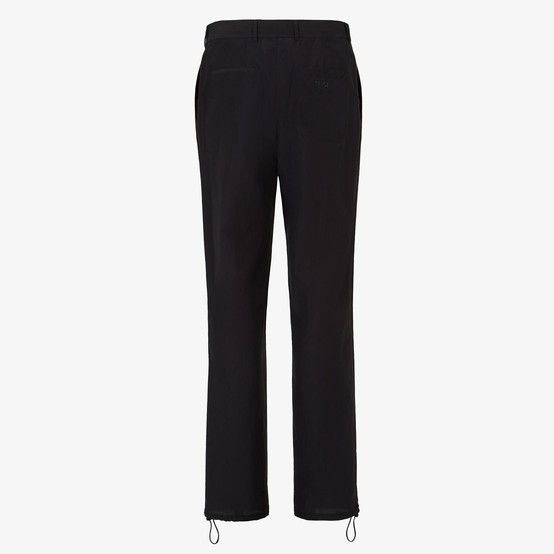 FENDI TROUSERS - Black cotton trousers - view 2 detail