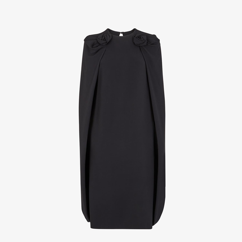 FENDI DRESS - Black cady dress - view 1 detail