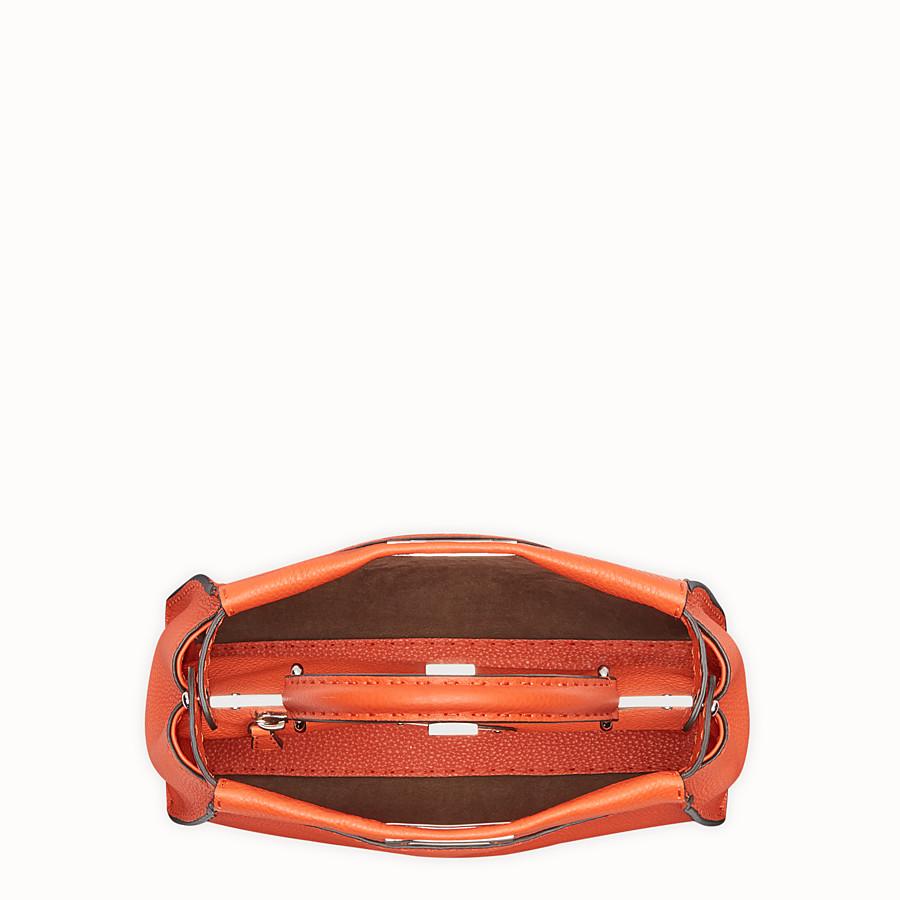 FENDI 標準款式 PEEKABOO - 橙色皮革手袋 - view 4 detail