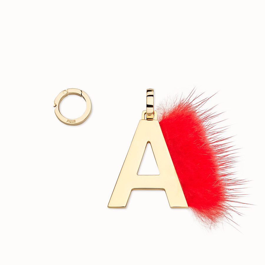 FENDI ABCLICK A - Pendant with red fur - view 1 detail
