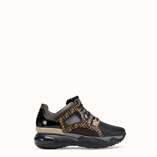 FENDI SNEAKERS - Multicolor leather low-tops - view 1 small thumbnail