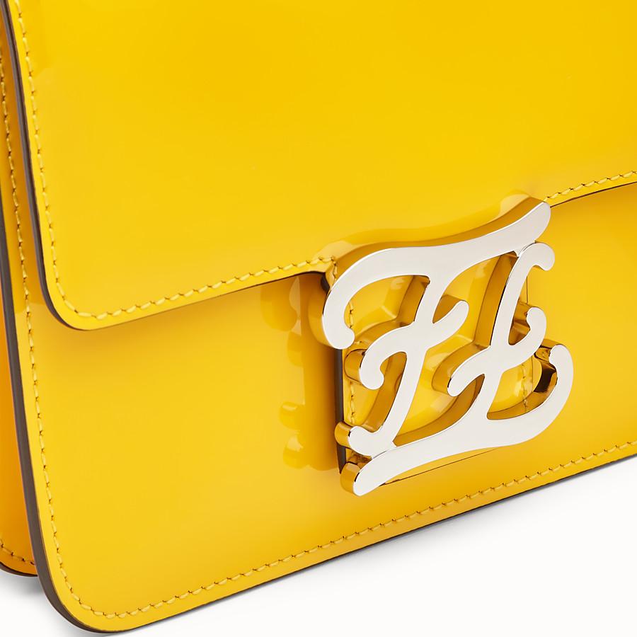 FENDI KARLIGRAPHY - Yellow patent leather bag - view 5 detail
