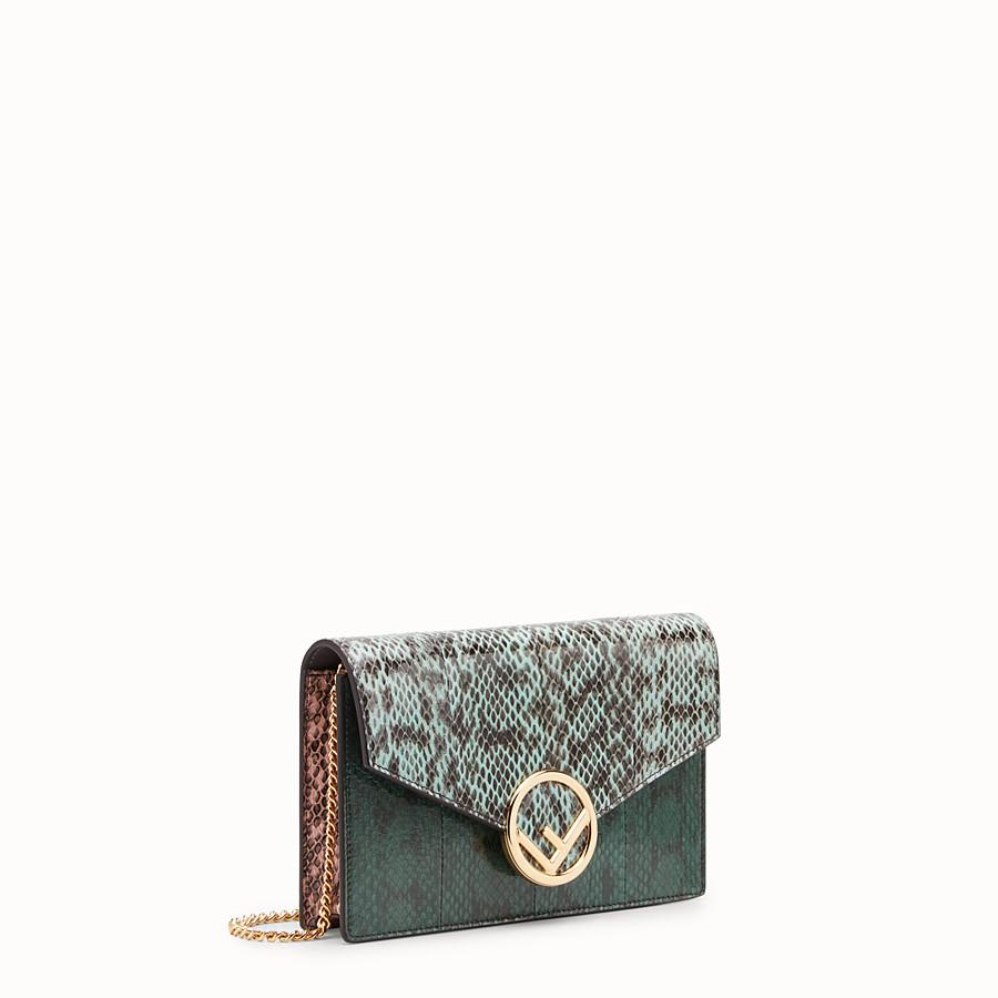 FENDI WALLET ON CHAIN - Minibag in elaphe verde - vista 2 dettaglio