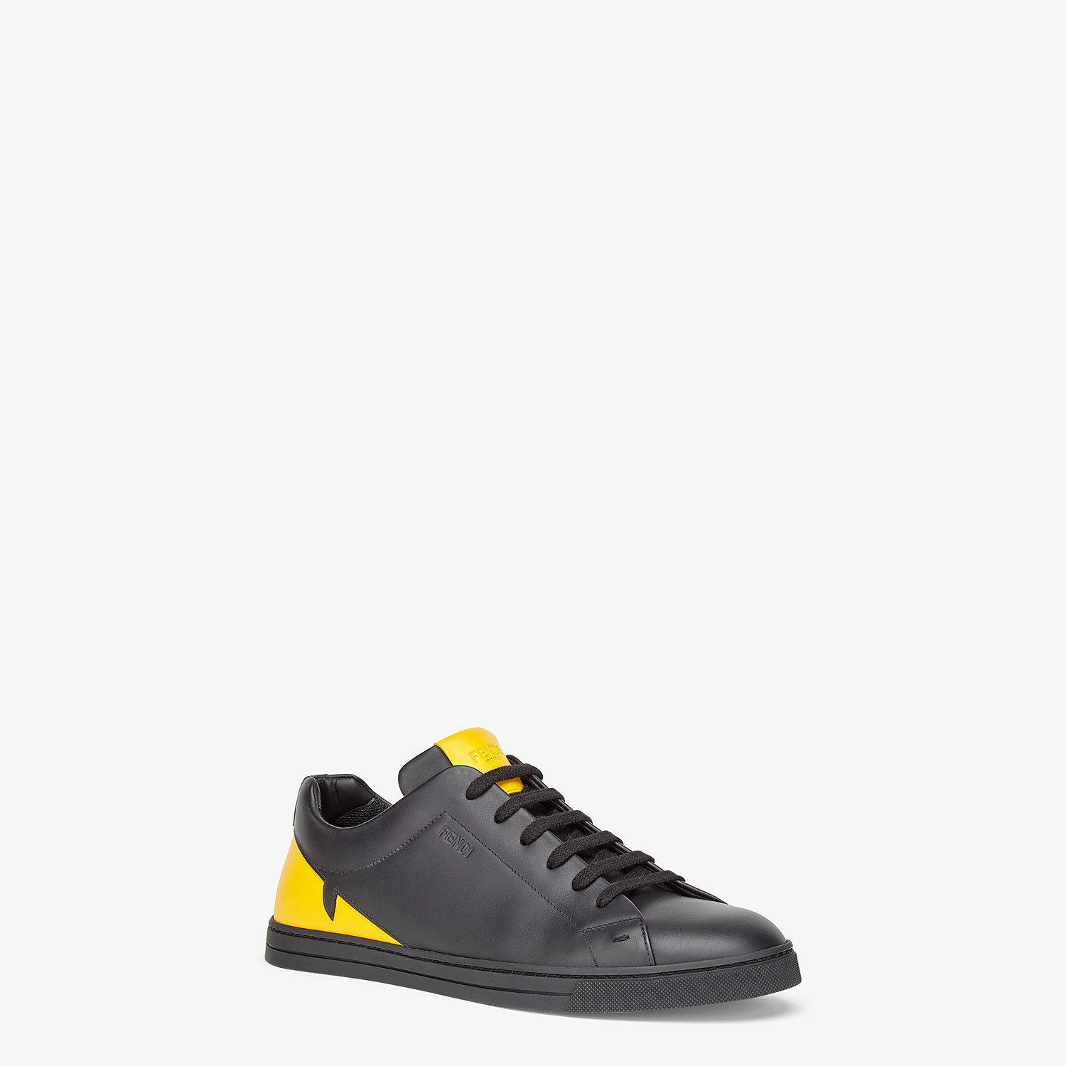 FENDI SNEAKER - Low-Top-Sneaker aus Leder in Schwarz - view 2 detail