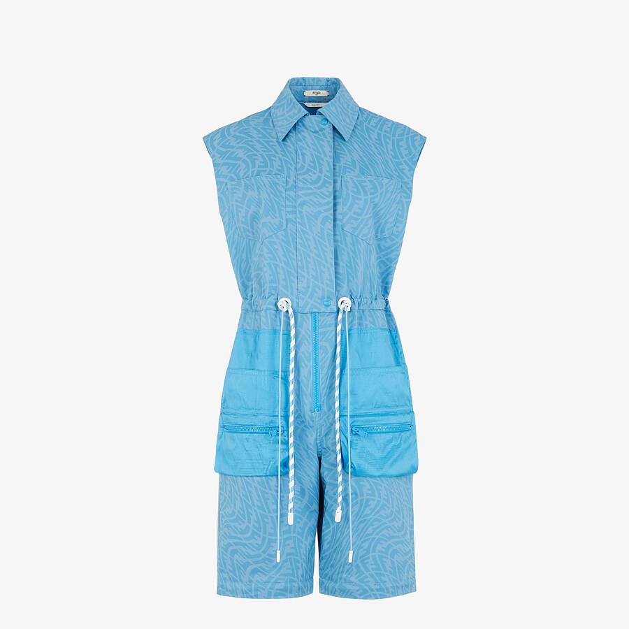 FENDI JUMPSUIT - Light blue denim jumpsuit - view 4 detail