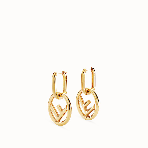 FENDI F IS FENDI EARRINGS - Gold-colour earrings - view 1 small thumbnail
