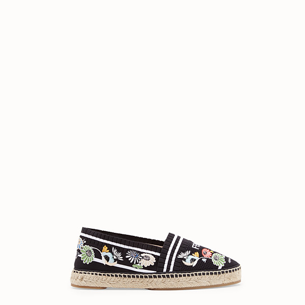 FENDI ESPADRILLES - Black fabric espadrilles - view 1 small thumbnail