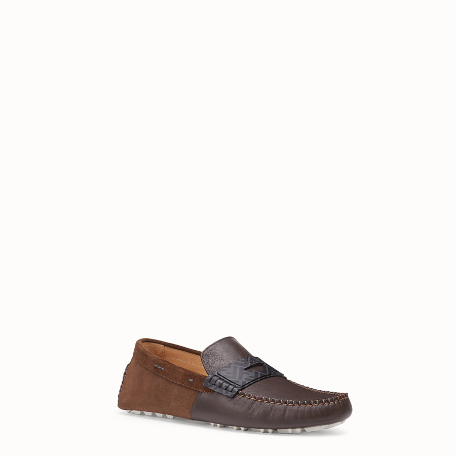 FENDI LOAFER - Loafer aus Leder in Braun - view 2 detail