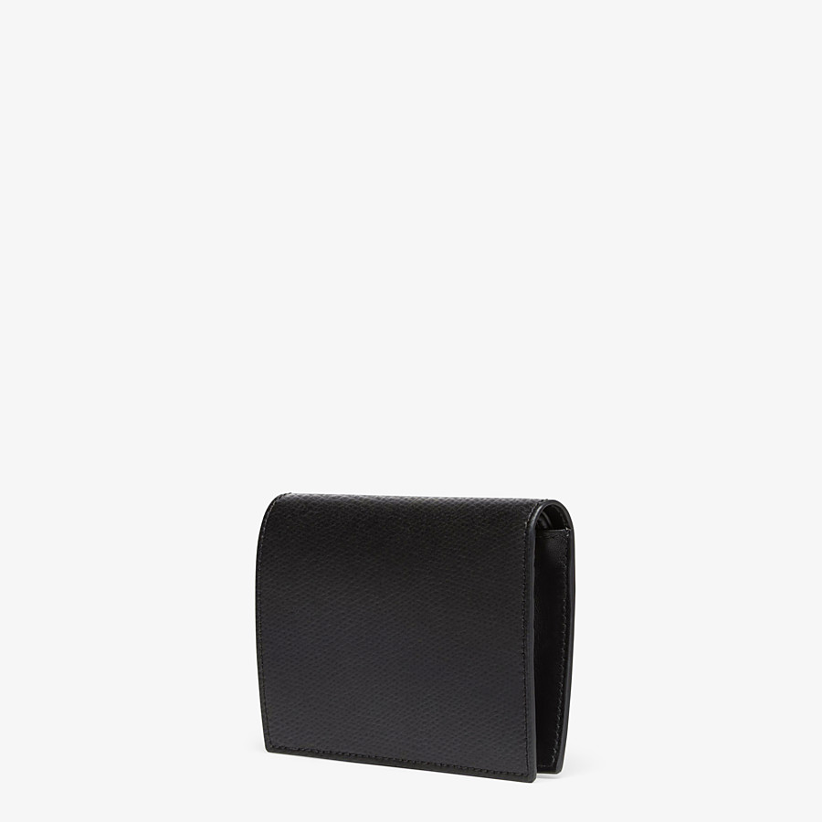 FENDI BIFOLD - Black compact leather wallet - view 2 detail