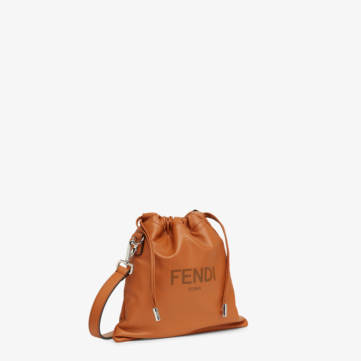 FENDI FENDI PACK SMALL POUCH - Brown leather bag - view 2 detail