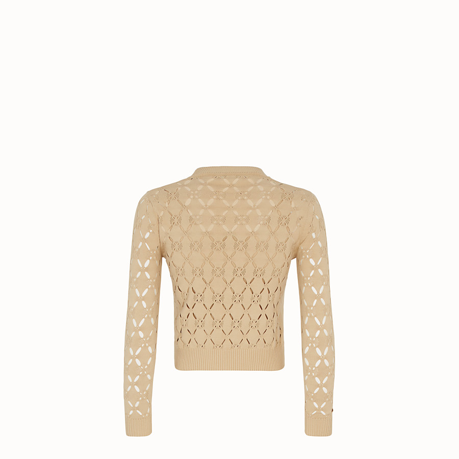 FENDI PULLOVER - Beige fabric jumper - view 2 detail