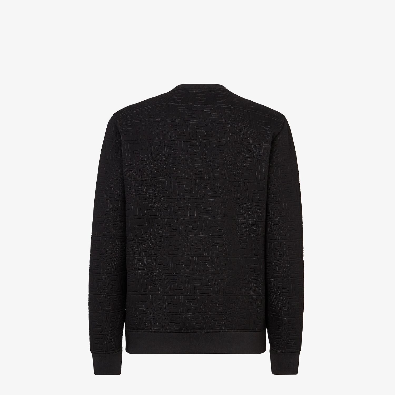 FENDI SWEATSHIRT - Black neoprene sweatshirt - view 2 detail