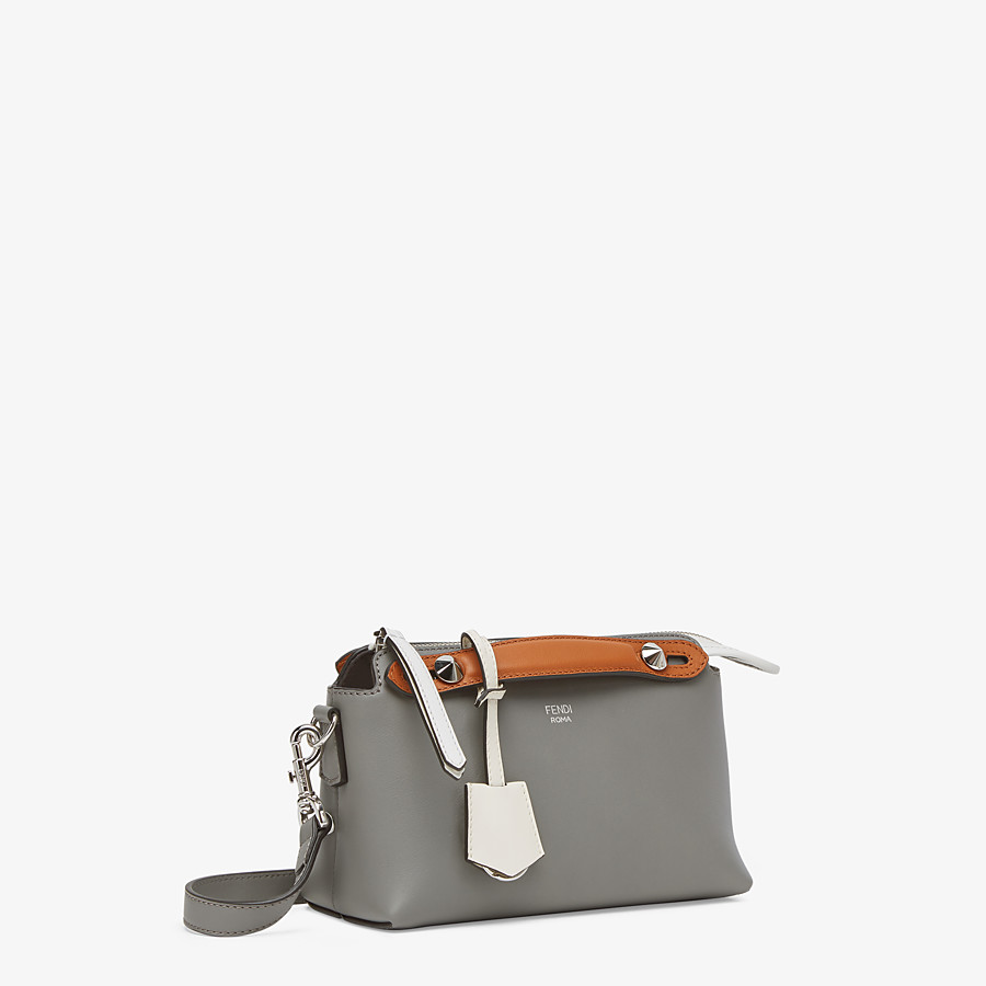 FENDI BY THE WAY MINI - Gray leather Boston bag - view 2 detail