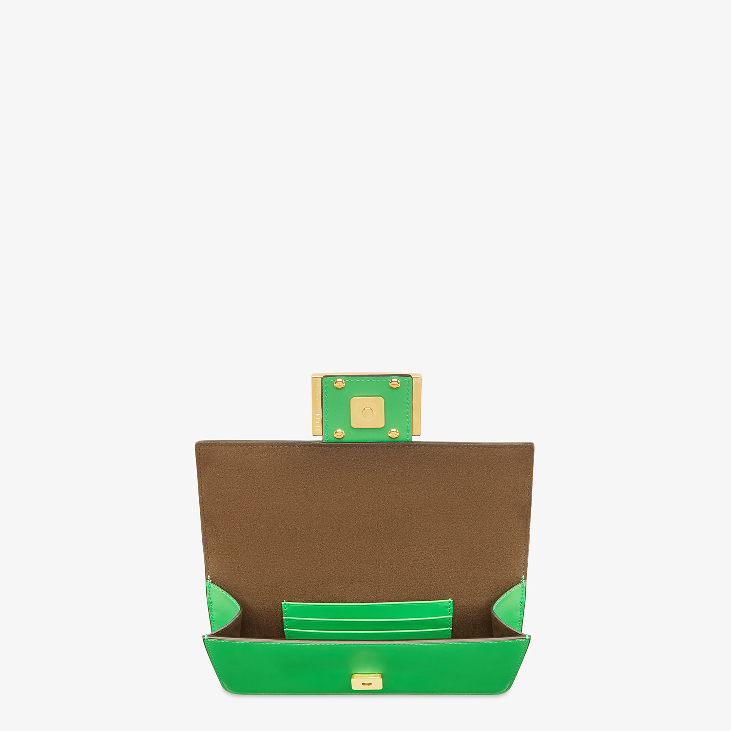 FENDI FLAT BAGUETTE - Green leather mini-bag - view 4 detail