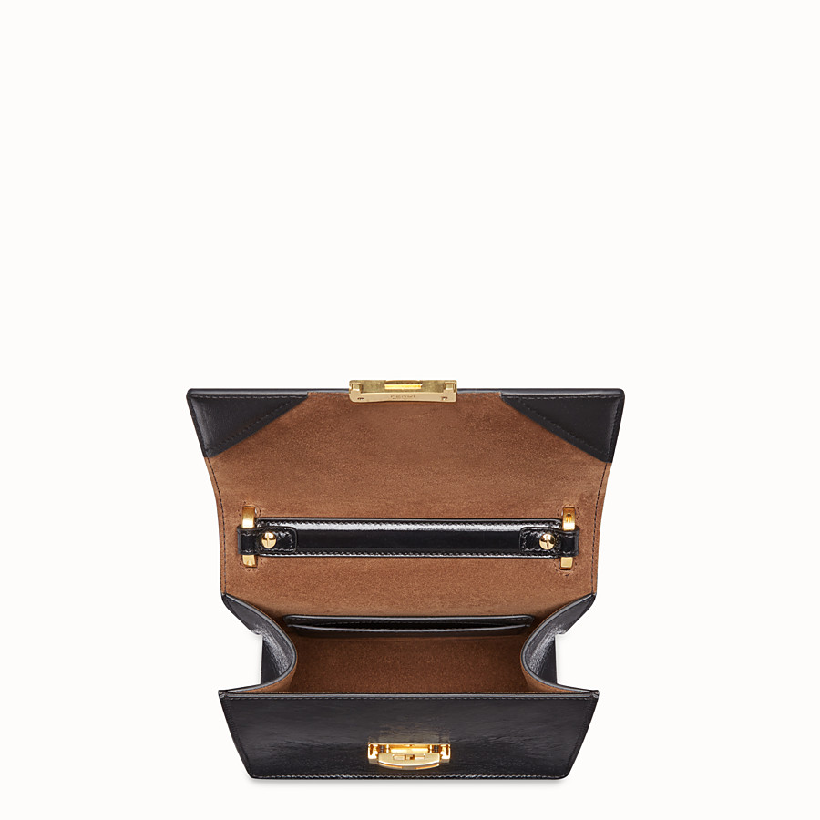 FENDI KAN U SMALL - Black leather mini-bag - view 4 detail
