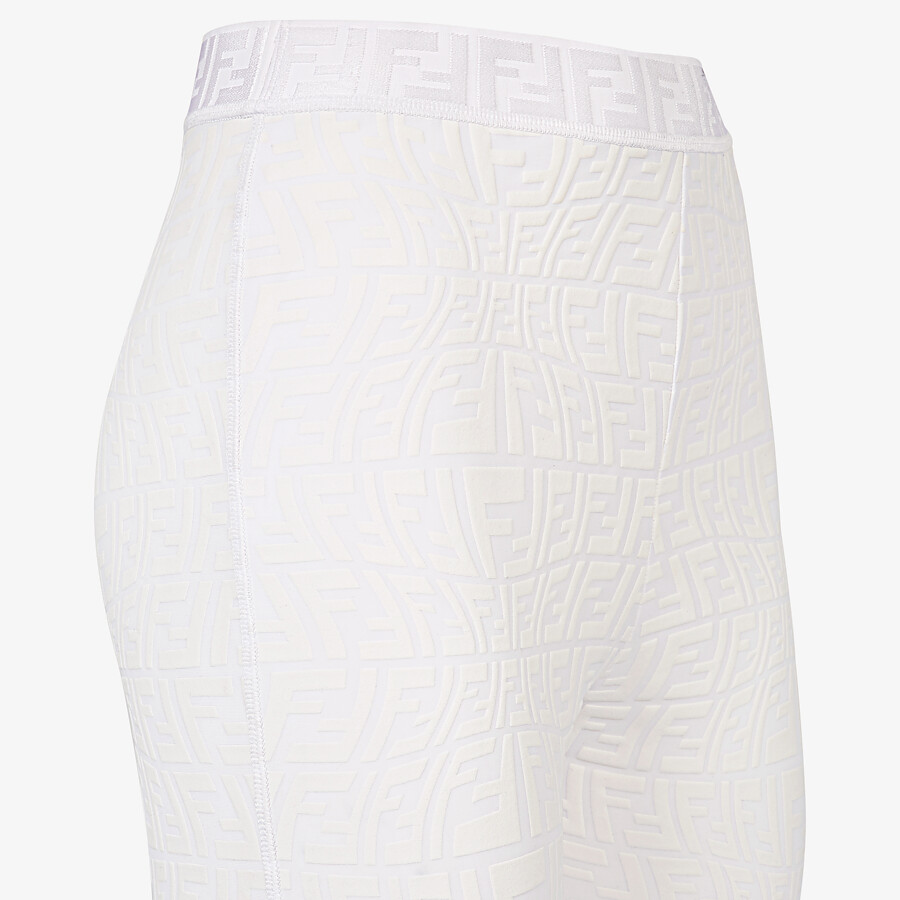 FENDI LEGGINGS - White tech fabric leggings - view 3 detail
