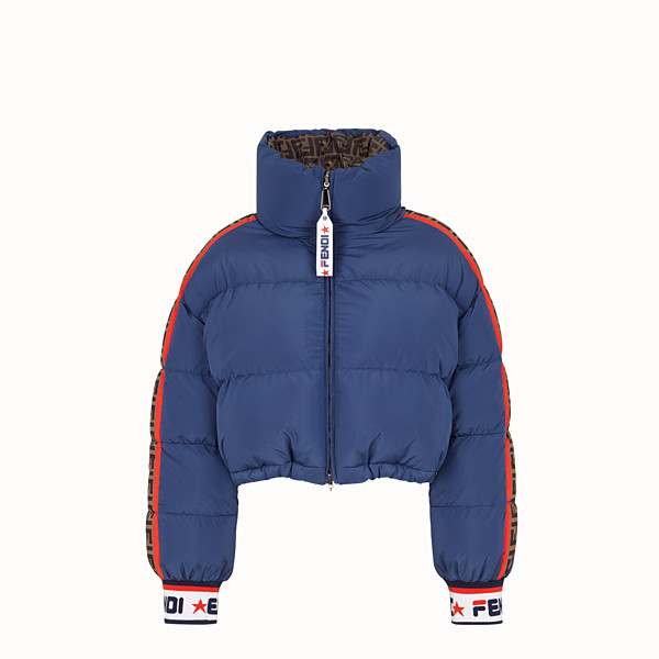 FENDI SHORT DOWN JACKET - Multicolour padded down jacket - view 1 small thumbnail