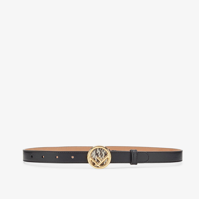 FENDI F IS FENDI BELT - Black leather belt - view 1 detail
