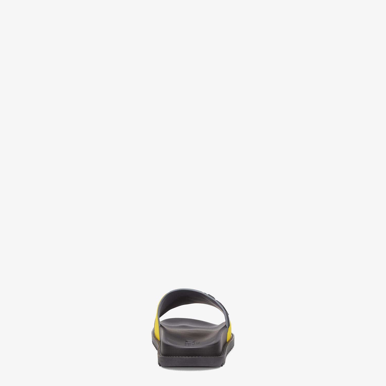 FENDI SLIDES - Multicolor rubber fussbetts - view 3 detail