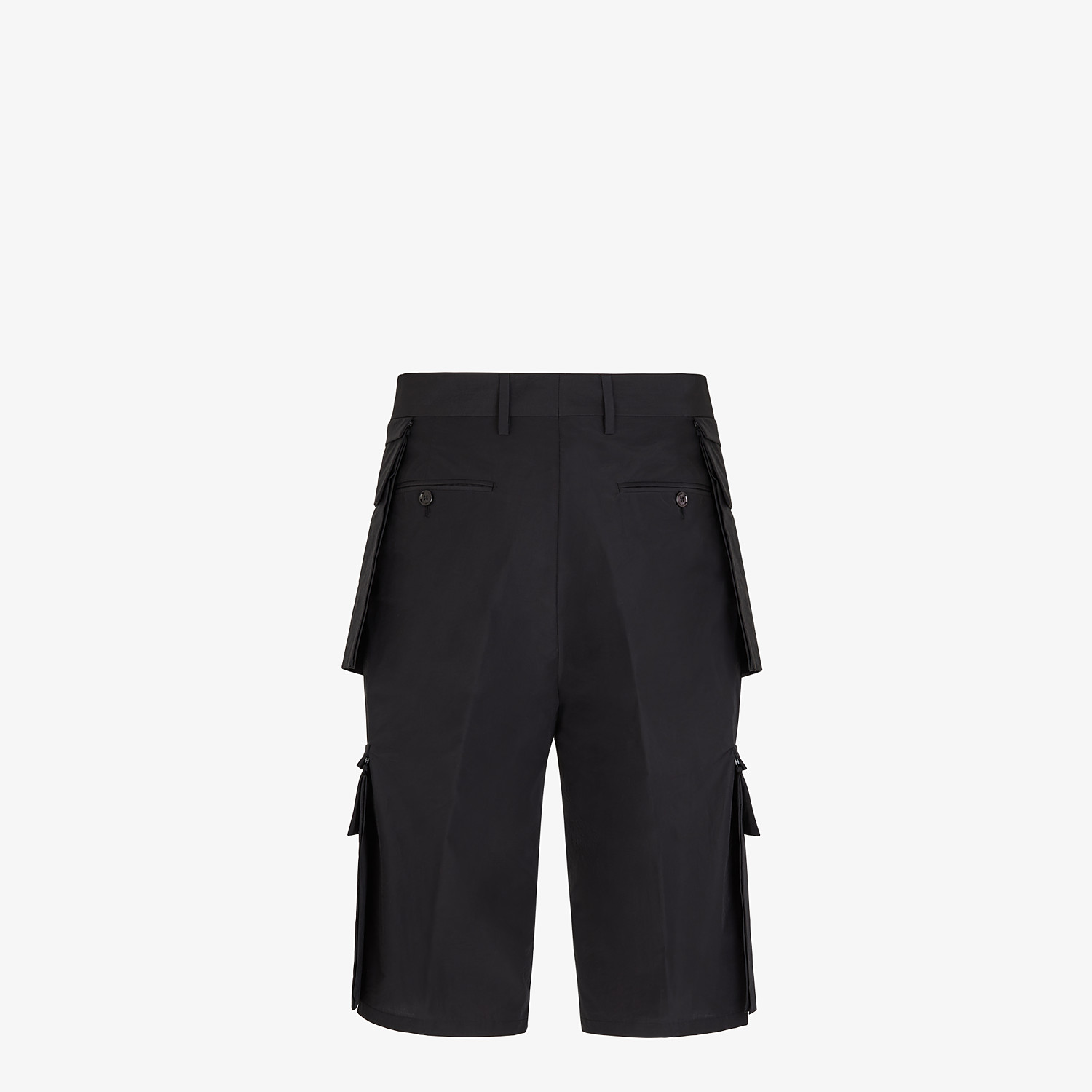 FENDI PANTS - Cotton and black nylon Bermudas - view 2 detail