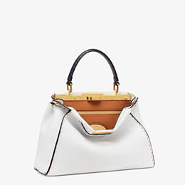 FENDI PEEKABOO ICONIC MEDIUM - White leather bag - view 3 thumbnail