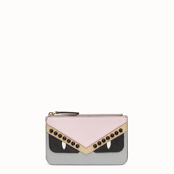 FENDI KEYRING POUCH - Multicolor leather pouch - view 1 small thumbnail