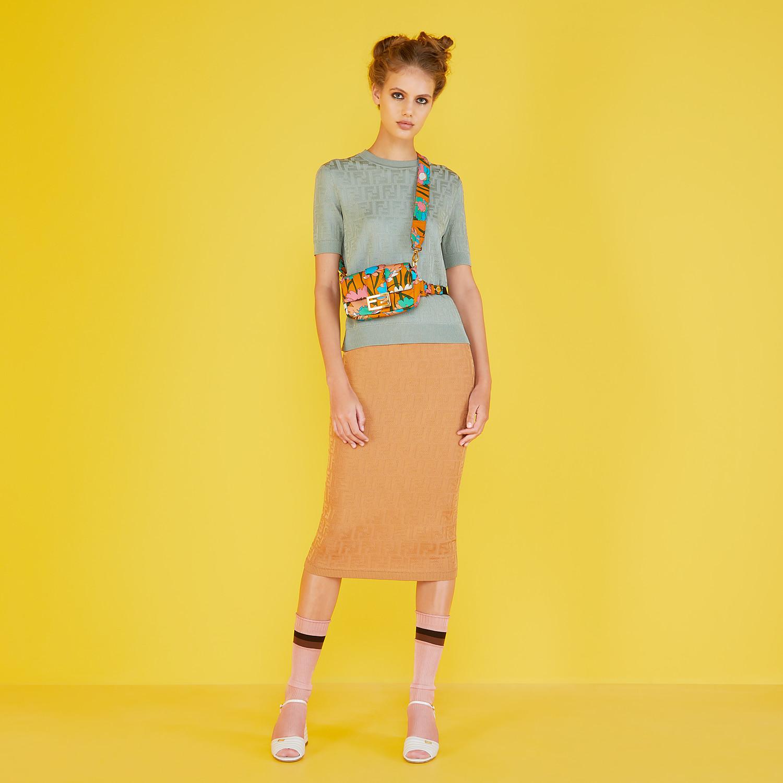 FENDI BAGUETTE - Multicolour nylon bag - view 2 detail