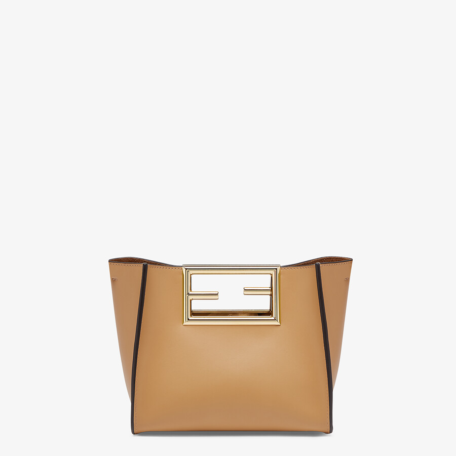FENDI FENDI WAY SMALL - Beige leather bag - view 1 detail