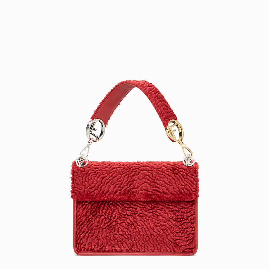 FENDI KAN I F - Red velvet bag - view 3 detail